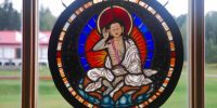 Dorje Denma Ling stained glass window